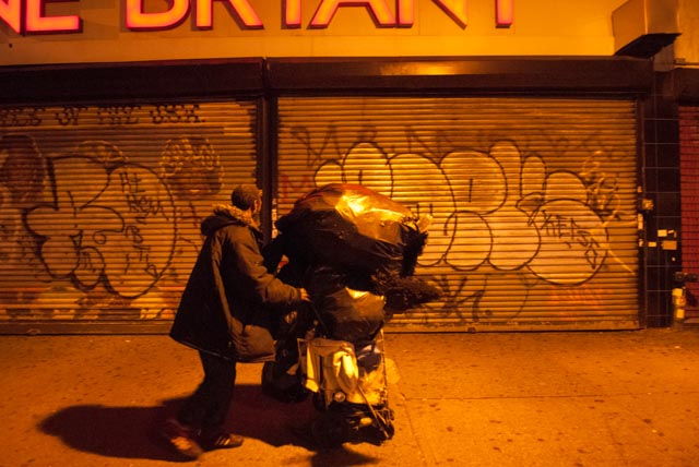 As Hurricane Sandy Approaches New York City Homeless Still Outside